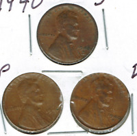 1940-DPS CIRCULATED CIRCULATION STRIKE COPPER ONE CENT COINS