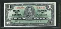 1937 BANK OF CANADA $1. CHOICE UNCIRCULATED BC 21D. RN 4392809.