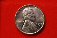 1943-S LINCOLN WHEAT STEEL CENT PENNY UNCIRCULATED V65