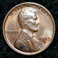 1929-D LINCOLN CENT  RB UNC DETAILS WITH MINT LUSTER