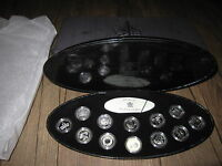 2000 CANADA MILLENIUM SET OF 12 SOLID SILVER 25 CENTS QUARTERS W/ CASE BOX COA