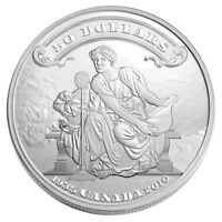 2010 CANADA $50 75TH ANNIV. OF THE FIRST BANK NOTES 5 OZ .999 SILVER COIN NO TAX