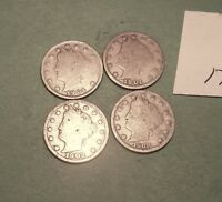 1901,1902, 03, 04,   V LIBERTY NICKELS   171