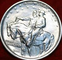 UNCIRCULATED 1925 STONE MOUNTAIN SILVER COMM HALF
