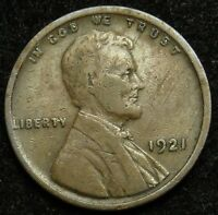 1921 LINCOLN WHEAT CENT PENNY VG GOOD  B02