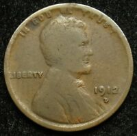 1912 D LINCOLN WHEAT CENT PENNY G GOOD B02