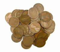 LOT OF 50 1913 P C LINCOLN WHEAT CENT PENNIES G GOOD ROLL 123931