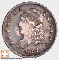 1837 CAPPED BUST HALF DIME LG 5 2669