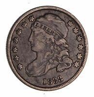 1833 CAPPED BUST DIME - CIRCULATED 1542