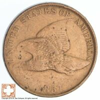 1857 FLYING EAGLE CENT SB76