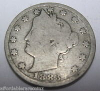 1883 NO CENTS LIBERY 'V' NICKEL IN GOOD  95WW