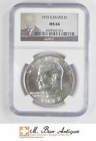 1972-S EISENHOWER IKE DOLLAR - SILVER - UNCIRCULATED NGC GRADED-MINT STATE 66 5111