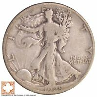 1929-S WALKING LIBERTY HALF DOLLAR 90 SILVER 9327