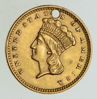1874 INDIAN PRINCESS HEAD GOLD DOLLAR   CIRCULATED  CONDITION: HOLE  4932