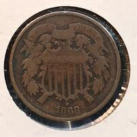1868 2C  TWO CENT PIECE 35203