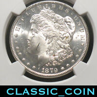 1879-S MORGAN SILVER DOLLAR $1 NGC MINT STATE 63 FRESH SLAB FREE S/H
