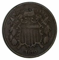 1870 TWO-CENT PIECE- CIRCULATED 2950
