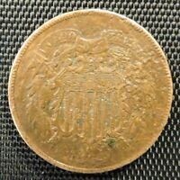 1864 UNITED STATES TWO CENT PIECE 2 COIN LOT 3 @F