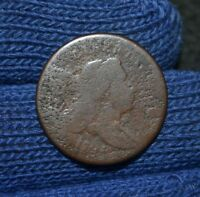 1794 HALF CENTC-3AR5NORMAL HEADSMALL EDGE LETTERS BROWNFULL DATE
