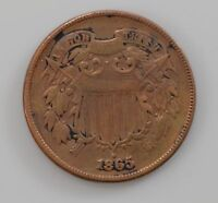 1865 TWO-CENT PIECE Q76
