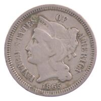 1865 NICKEL THREE-CENT PIECE J76