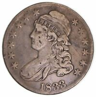 1833 CAPPED BUSTED HALF DOLLAR 6524
