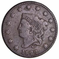 1822 MATRON HEAD LARGE CENT 2929