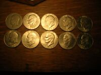 LOT OF 7 PRESIDENT EISENHOWER U.S. SILVER DOLLAR COINS 1971-1978