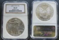 2004 AMERICAN SILVER EAGLE NGC MINT STATE 69