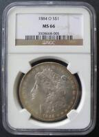 1884 O MORGAN DOLLAR NGC MINT STATE 66