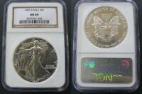 C-USA 1987 AMERICAN SILVER EAGLE NGC MINT STATE 69