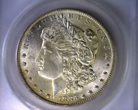 ANACS MINT STATE 63 BEAUTIFUL 1885 O VAM 17 MPD 8 IN DENTICLES MORGAN SILVER DOLLAR COIN