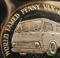 1990 1 TROY OZ .999 PURE SILVER   WORLD FAMED PENNY VAN LINCOLN HEAD COIN