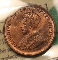 1935 CANADA SMALL CENT ICCS MS 64 RED LUSTEROUS BEAUTIFUL COLOR BV $175. WK 174