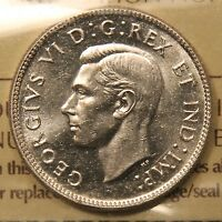 1946 CANADA SILVER 25 CENTS. ICCS MS 65 GEM UNCIRCULATED. BV $450