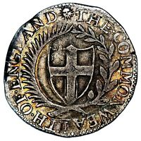 1651 COMMONWEALTH GREAT BRITAIN SILVER SHILLING COIN