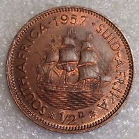 SOUTH AFRICA  1/2 PENNY 1957 BRONZE