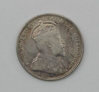 1909 CANADA 25 CENTS SILVER FOREIGN COIN  Q70
