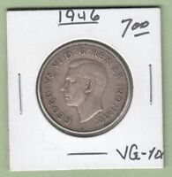 1946 CANADIAN 50 CENTS SILVER COIN   VG 10