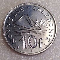 NEW CALEDONIA 10 FRANCS 1967 GREAT COIN