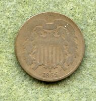1865   2C TWO CENT PIECE   AG