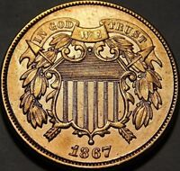 1867  2 CENTS   EXTRA FINE /AU DETAILS ?  CLEANED CONDITION A30-449