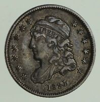 1835 CAPPED BUST HALF-DIME - CIRCULATED 9646