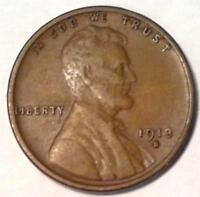 BETTER DATE 1913 S LINCOLN HEAD PENNY ONE WHEAT CENT VF 4078