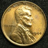 1944 LINCOLN WHEAT CENT PENNY AU ABOUT UNCIRCULATED B06