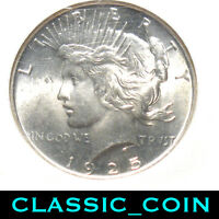 1925 SILVER PEACE DOLLAR $1 NGC MINT STATE 65 SEE AD SHIPS FREE