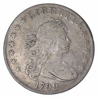 1799 DRAPED BUST SILVER DOLLAR - CIRCULATED 8287