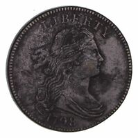 1798 DRAPED BUST LARGE CENT - CIRCULATED 1458