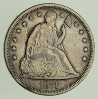 1871 SEATED LIBERTY SILVER DOLLAR - CIRCULATED 9282