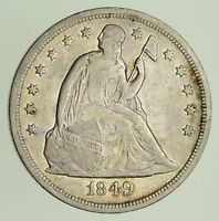 1849 SEATED LIBERTY SILVER DOLLAR - CIRCULATED 9286